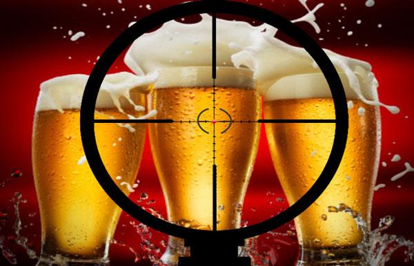 Cerveja na alça de mira